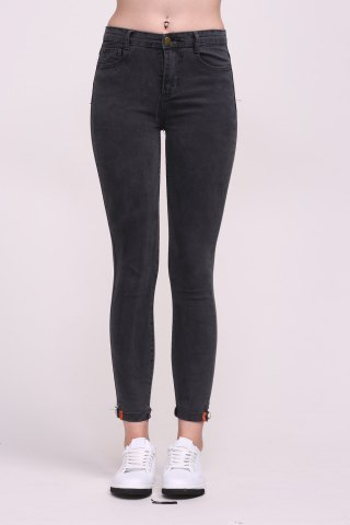 Unique Ninth Length High Waist Skinny Jeans