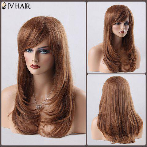 Outfits Long Layered Tail Adduction Side Bang Siv Human Hair Wig