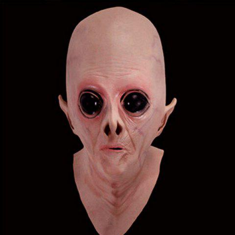 Discount Halloween Supply UFO Aliens Latex Mask Cosplay Prop COMPLEXION