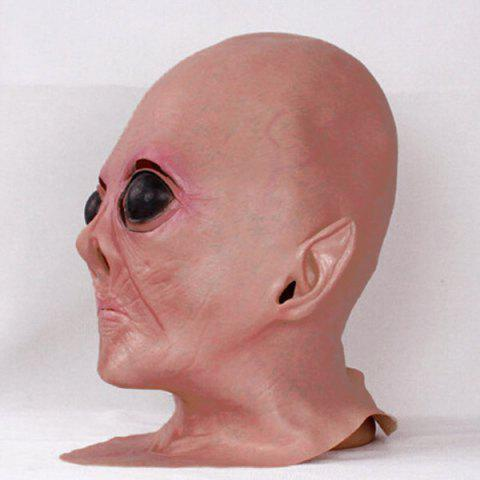 Trendy Halloween Supply UFO Aliens Latex Mask Cosplay Prop - COMPLEXION  Mobile