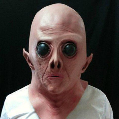 Outfits Halloween Supply UFO Aliens Latex Mask Cosplay Prop - COMPLEXION  Mobile