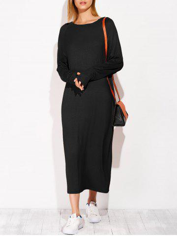 Outfit Long Sleeve Modal Casual Midi Dress