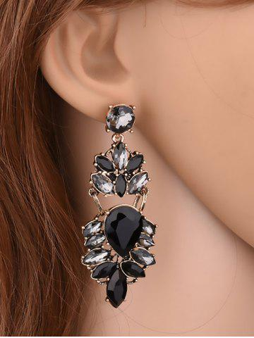 Fashion Faux Crystal Water Drop Earrings