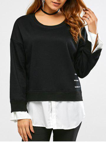 Chic Patchwork Graphic Sweatshirt