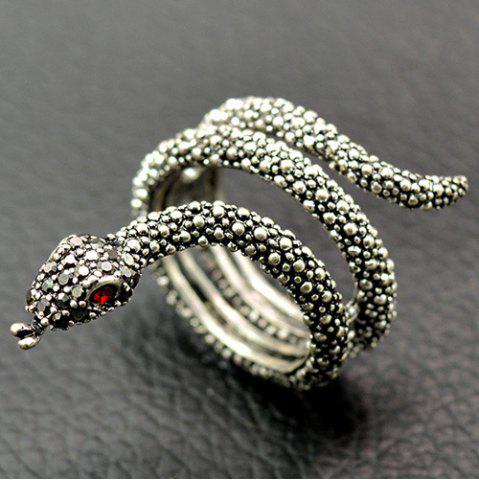 Best Cool Rhinestone Snake Finger Cuff Ring SILVER 18