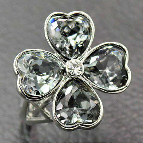 Rhinestone Clover Heart Shaped кольцо