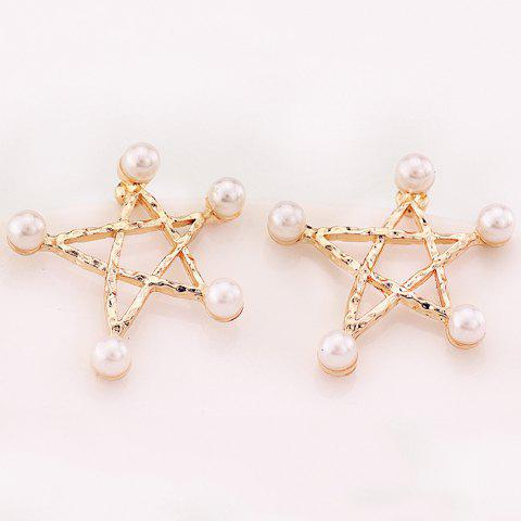 New Artificial Pearl Star Earrings