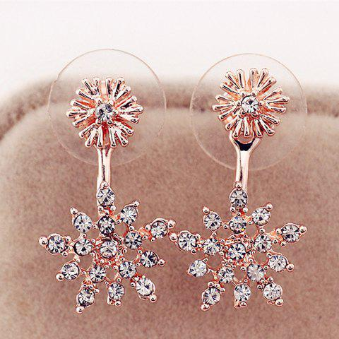 Best Rhinestone Snowflake Drop Earrings