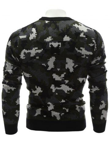 Affordable Crew Neck Camouflage Sweater - XL COLORMIX Mobile