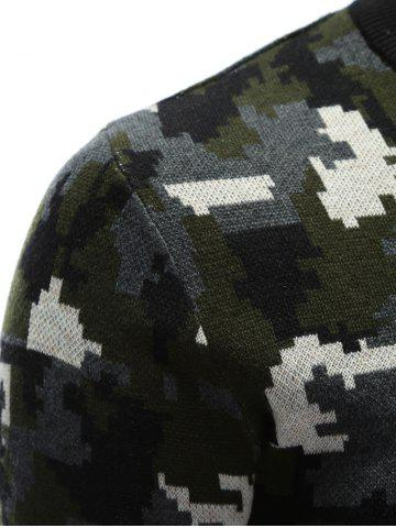 Outfit Crew Neck Camouflage Sweater - M COLORMIX Mobile