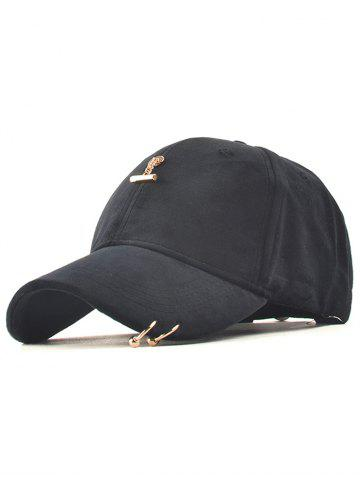 Hot Casual Iron Ring Pleuche Baseball Cap