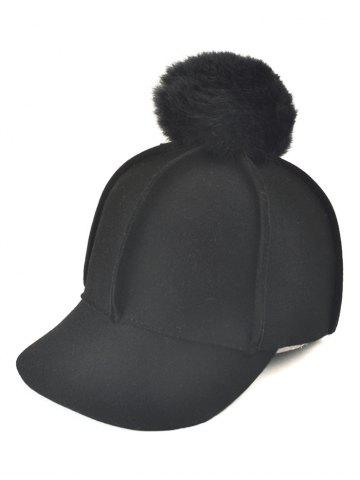 Store Wool Felt Ribbed Fuzzy Ball Baseball Hat