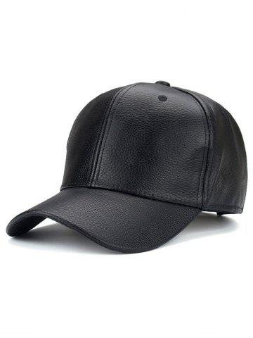 Best Adjustable PU Trucker Snapback Baseball Hat BLACK