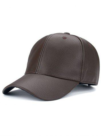 Discount Adjustable PU Trucker Snapback Baseball Hat BROWN