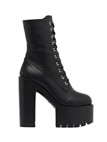 Hot High Heel Fold Down Combat Boots
