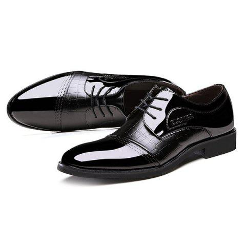 Online Patent Leather Insert Formal Shoes - 44 BLACK Mobile