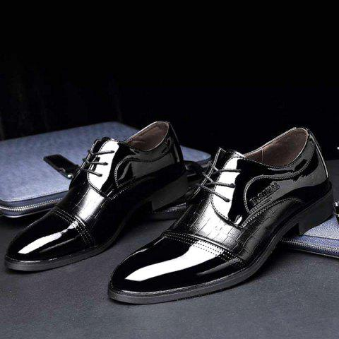 Outfit Patent Leather Insert Formal Shoes - 40 BLACK Mobile