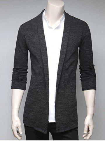 Trendy Slimming Turndown Collar Cardigan DEEP GRAY XL