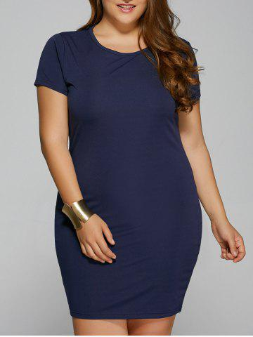 Sale Summer Short Sleeve Plus Size Bodycon Dress