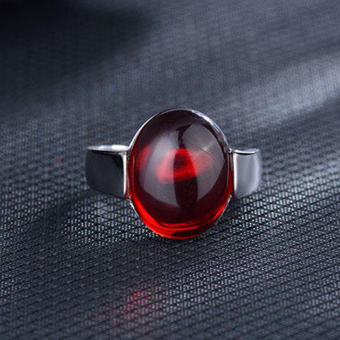 Affordable Natural Stone Ring RED ONE-SIZE