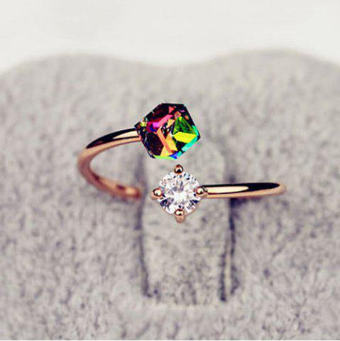 Best Fake Gemstone Geometric Cuff Ring