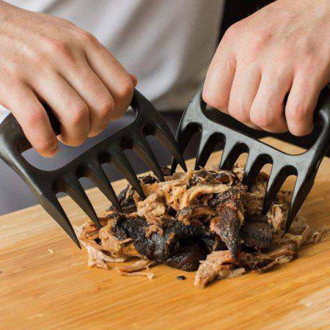 Buy 2PCS Pork Meat Handler Pull Shred Bear Claw Barbecue Forks BLACK