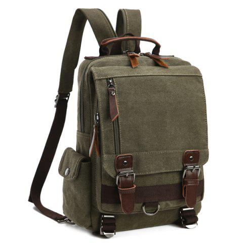 Shops Double Buckle Pocket Zippers Backpack ARMY GREEN