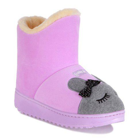 Platform Cartoon Rabbit Snow Boots - Purple - Size(39-40)