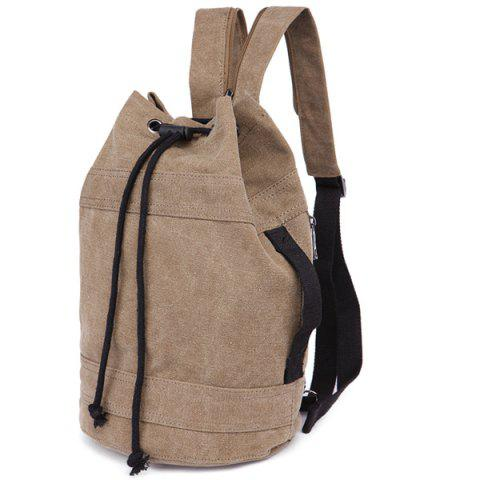 Store String Zippers Canvas Backpack