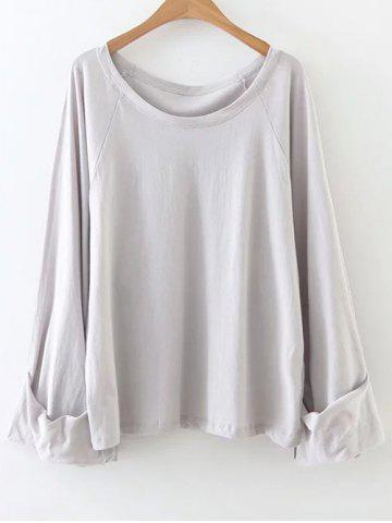 Casual Scoop Neck Tunic T-Shirt