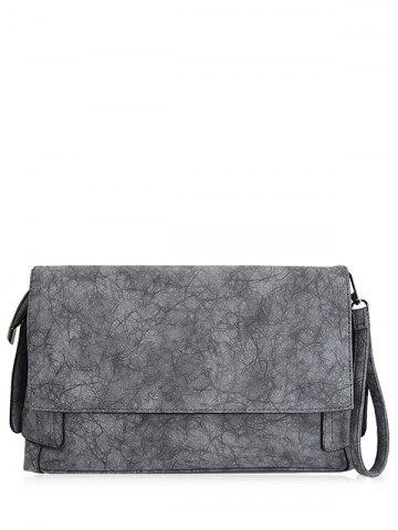 Shops PU Leather Clutch Bag - GRAY  Mobile