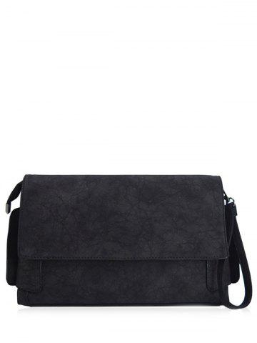 Outfits PU Leather Clutch Bag - BLACK  Mobile