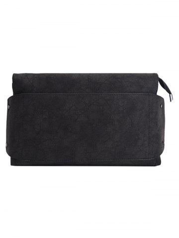 Store PU Leather Clutch Bag - BLACK  Mobile