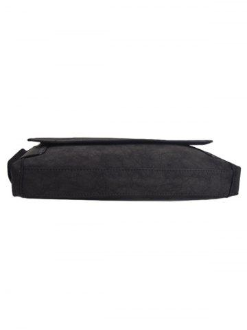 Buy PU Leather Clutch Bag - BLACK  Mobile