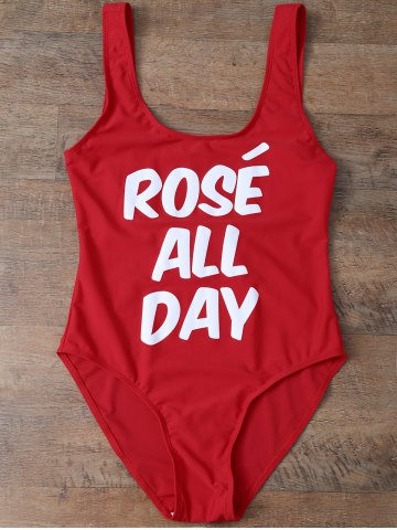 Latest Scoop Neck Rose All Day Swimwear