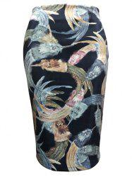 Feather Painting Tube Skirt
