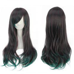 Long Side Bang Tail Adduction Mixed Color Synthetic Cosplay Wig