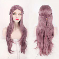 Long Middle Part Layered Slightly Curled with Braided Mixed Color Synthetic Cosplay Wig