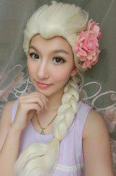 Long Braided Mixed Color Synthetic Cosplay Queen Wig