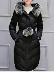 Hooded Long Quilted Coat -