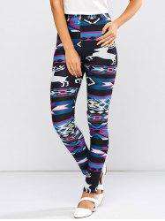 High Waist Christmas Deer Skinny Pants