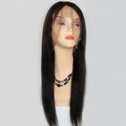 Long Side Parting Lace Front Straight Brazilian Human Hair Wig