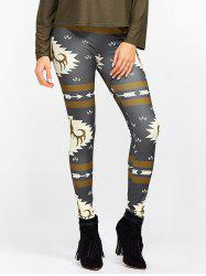 Christmas Ornate Print Slim Leggings