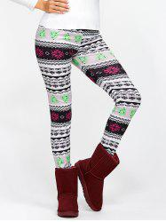 Christmas Ornate Print Slim Fit Leggings - COLORMIX XL