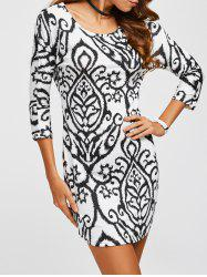Sheath Print Mini Dress