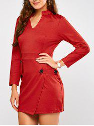 Long Sleeve Mini Sheath Dress
