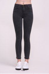 Ninth Length High Waist Black Skinny Jeans -