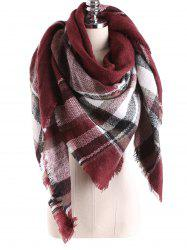 Warm Tartan Plaid Blanket Shawl Scarf -