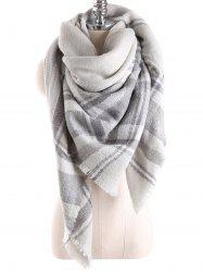 Warm Tartan Plaid Blanket Shawl Scarf - FROST