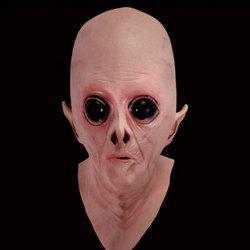 Halloween Supply UFO Aliens Latex Mask Cosplay Prop - COMPLEXION